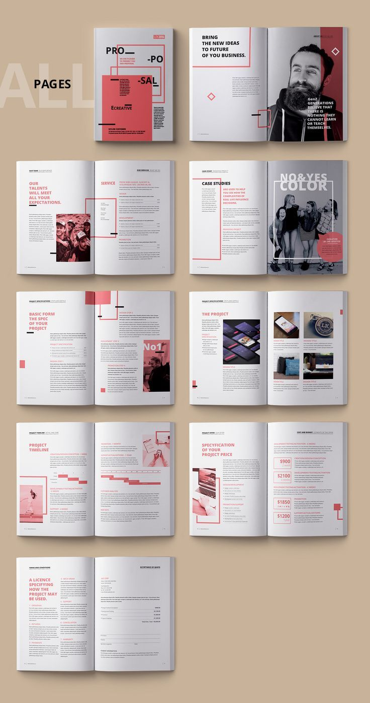 Photo of Proposal Template Sharp and Clean on Behance