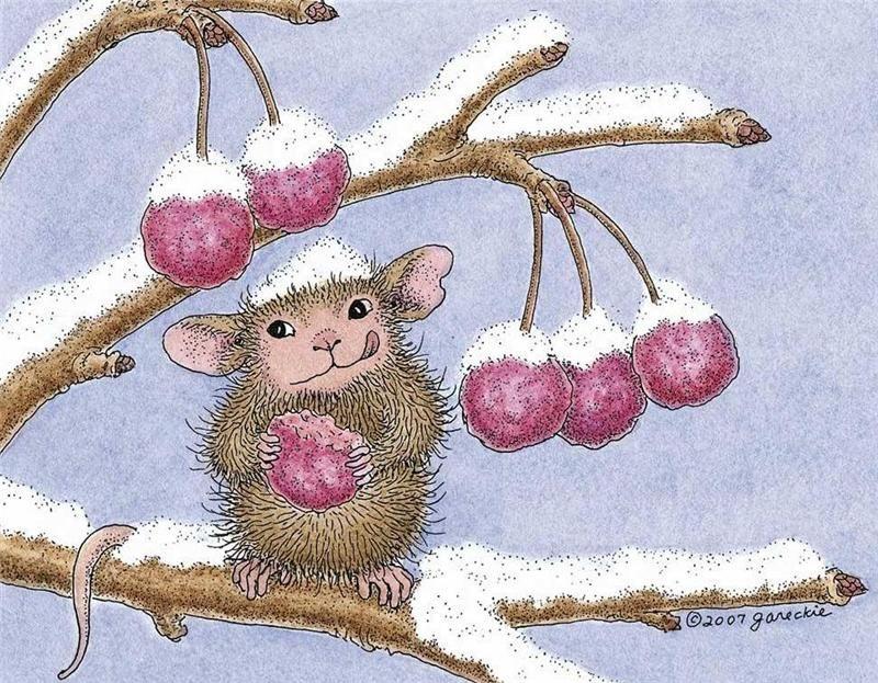 картинки веселые мышки зимой имеет