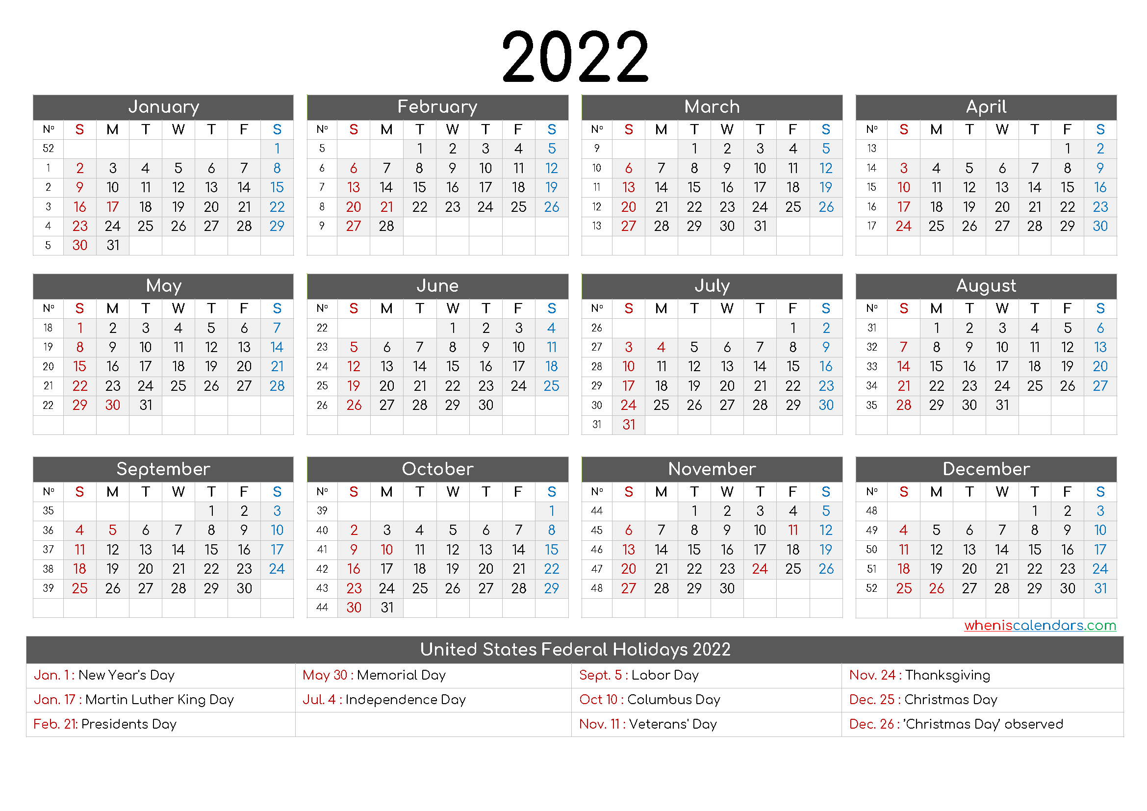 Free Printable Calendar 2022 6 Templates In 2020 Yearly Calendar Template Annual Calendar Printable Calendar Printables