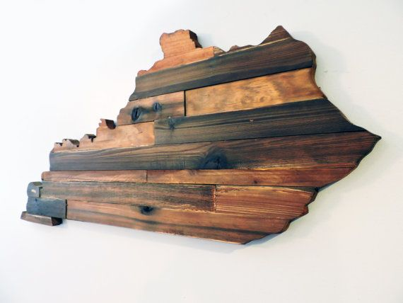 Kentucky Rustic Wood State Cut Out Wooden By Coveredbridges Stuff