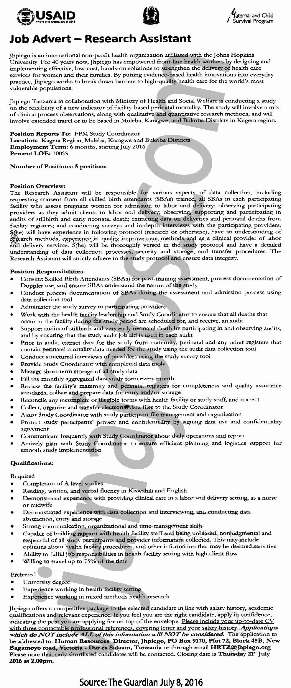 Research assistant job description resume awesome research