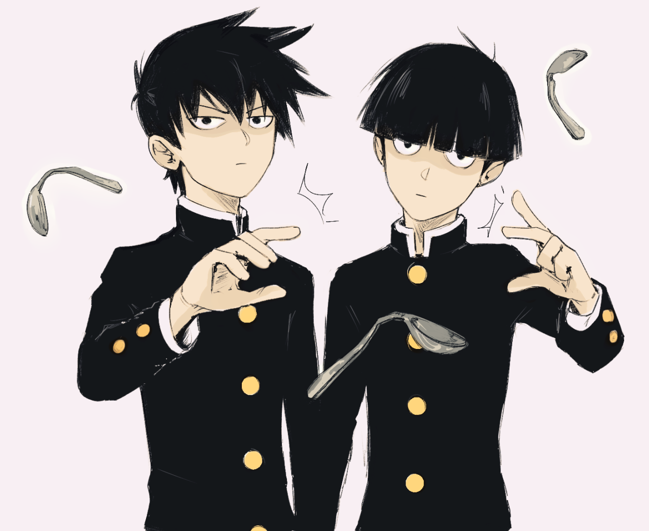 Mob Psycho 100 Kageyama Ritsu and Shigeo Mob Psycho