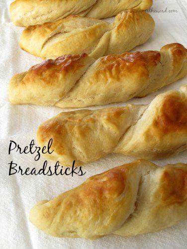 Homemade Pretzel Dough Made Into Delicious Breadsticks
