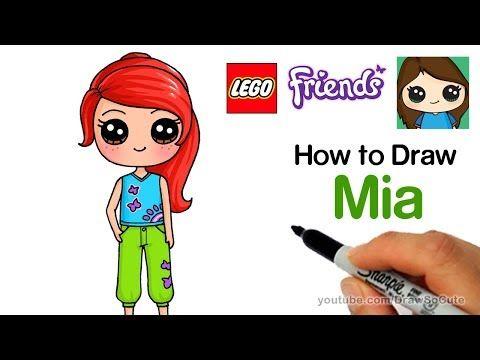 How To Draw Lego Friends Mia Easy   YouTube