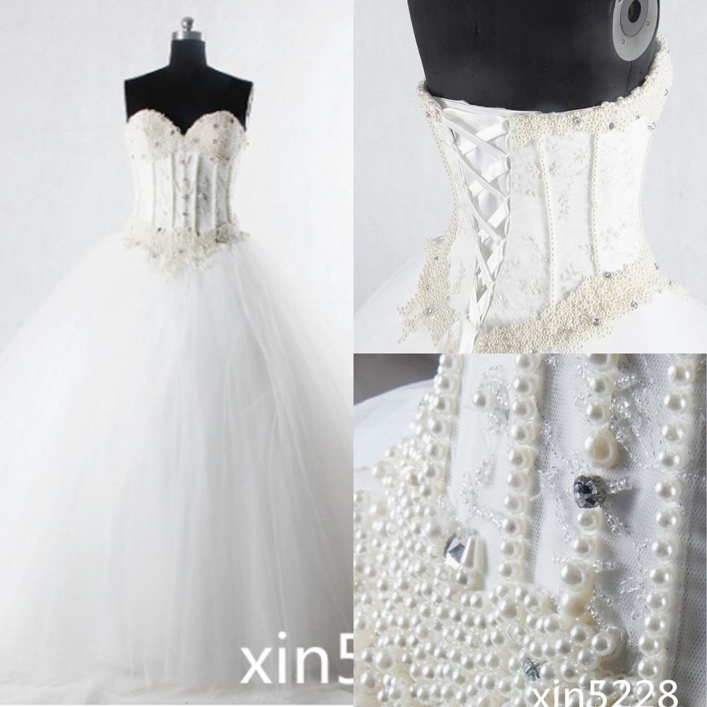 Strapless and backless wedding dress  Princess Wedding Dress Sexy Backless Sweetheart Neck Gothic Bridal