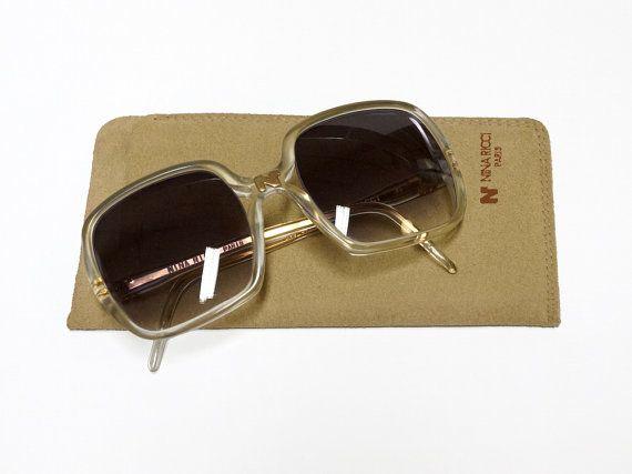 Vintage Nina Ricci sunglasses - model 54 - 80s French designer glasses in New Old Stock condition