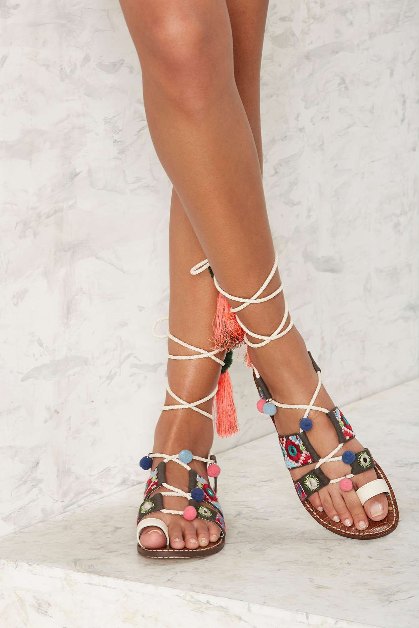 56fe2ff508f Sam Edelman Gretchen Embroidered Gladiator Sandal