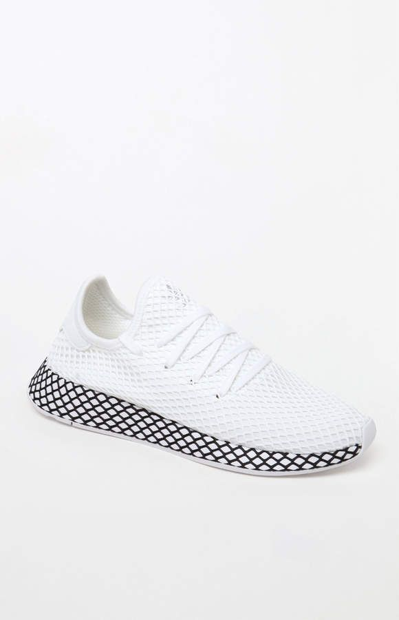 adidas Deerupt Runner White   Black Shoes  343a7bf71