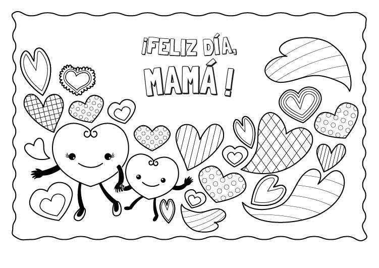 Dibujos del día de la madre para colorear en el colegio [PARA ...