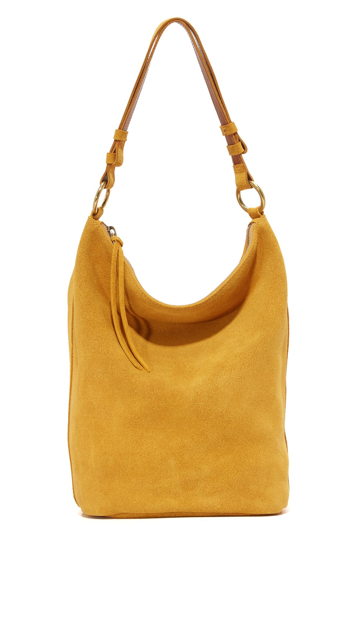 mustard yellow suede hobo bag  5cbb272ea1b63