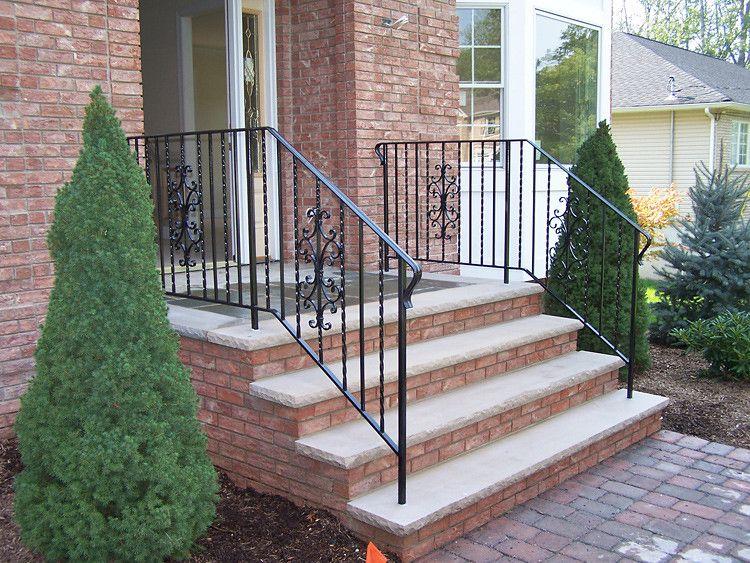 Best Exterior Railings Railings Outdoor Concrete Front Steps 400 x 300