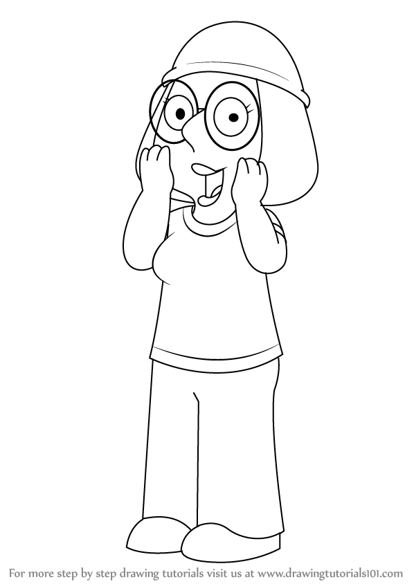 Learn How To Draw Meg Griffin From Family Guy Family Guy Step By Step Drawing Tutorials Drawings Griffin Drawing Guy Drawing