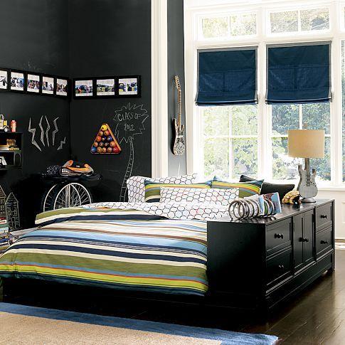 Bed W Dresser Attached Interesting Ultimate Storage Set Pb