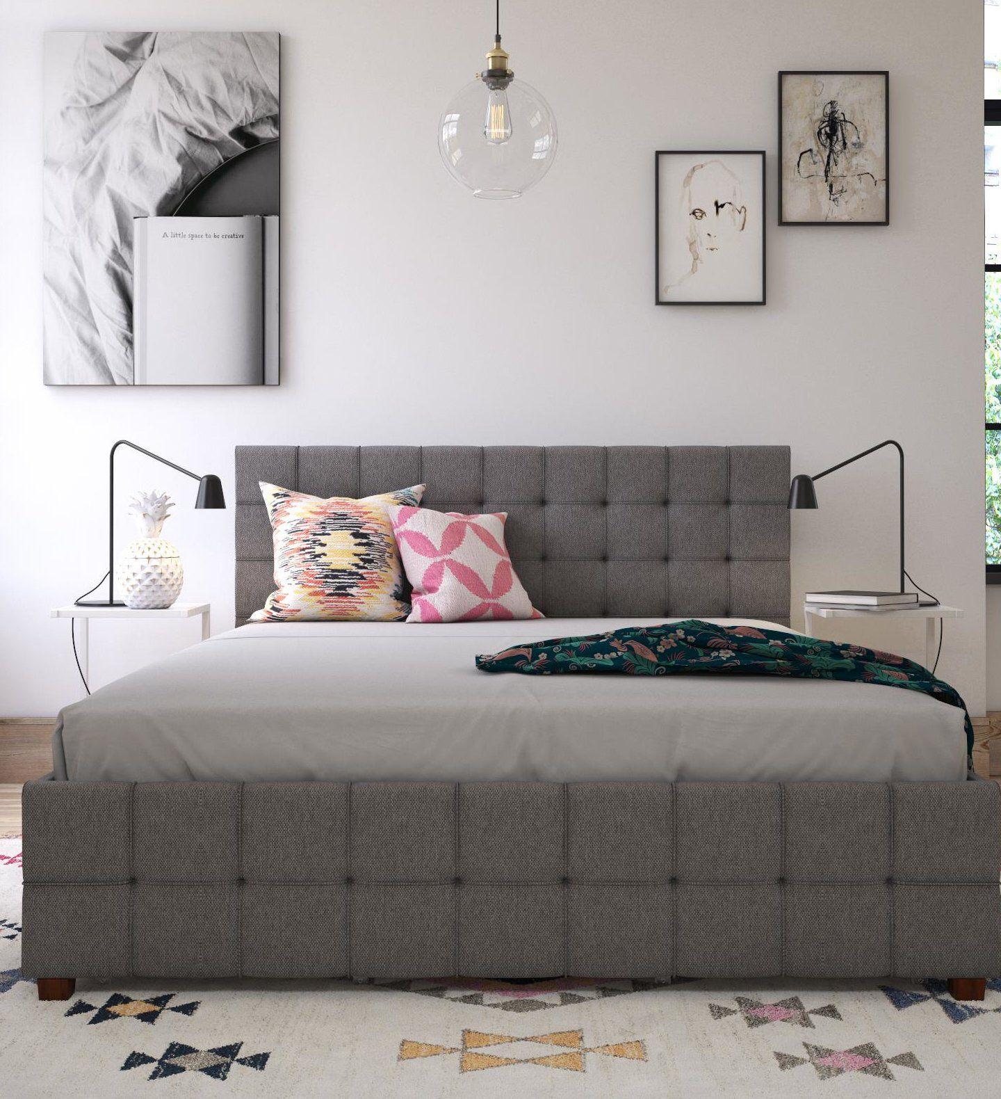 Elizabeth Upholstered Storage Platform Bed Platform bed