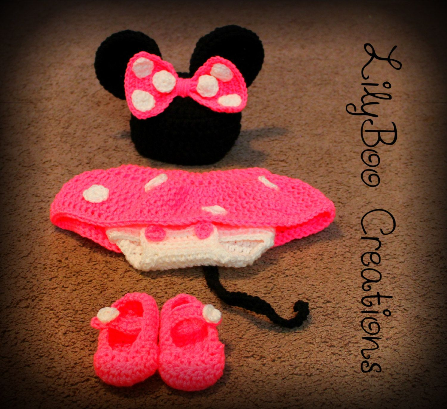pic of minnie mouse baby knitted outfit | Minnie Mouse outfit , baby ...