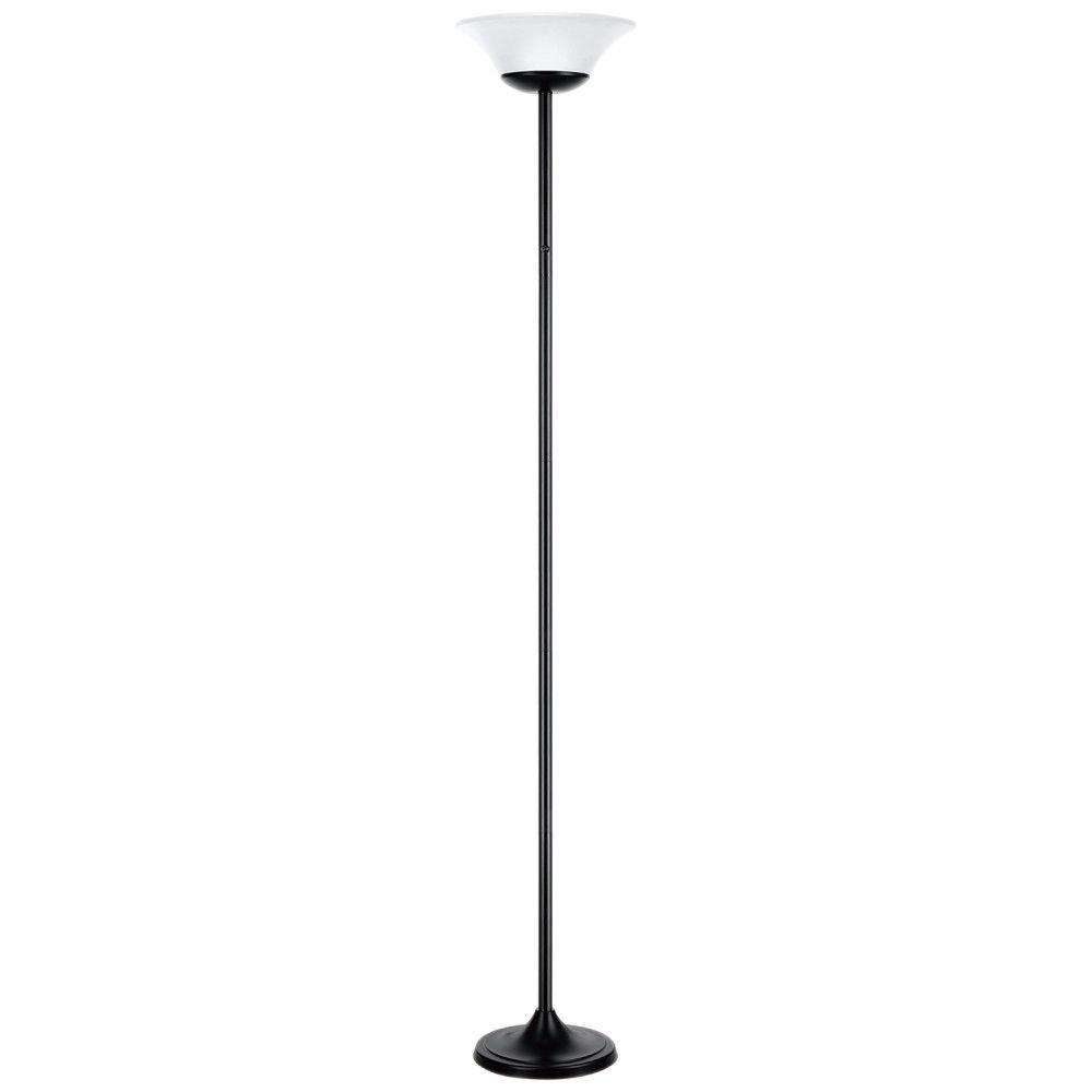 Globe Electric 72 Inch 15w Matte Black Integrated Led Floor Lamp Led Floor Lamp Torchiere Floor Lamp Floor Lamp