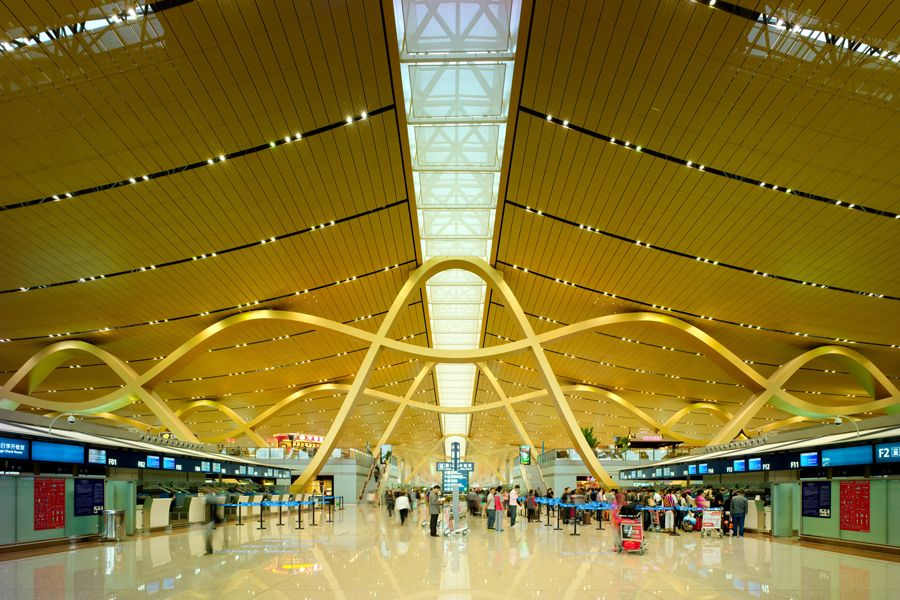 beautiful Form meets function The roof supports at Kunming airport [900x600] Check more at http://weirdhood.com/art/architecture-pics-month-feb-2015/