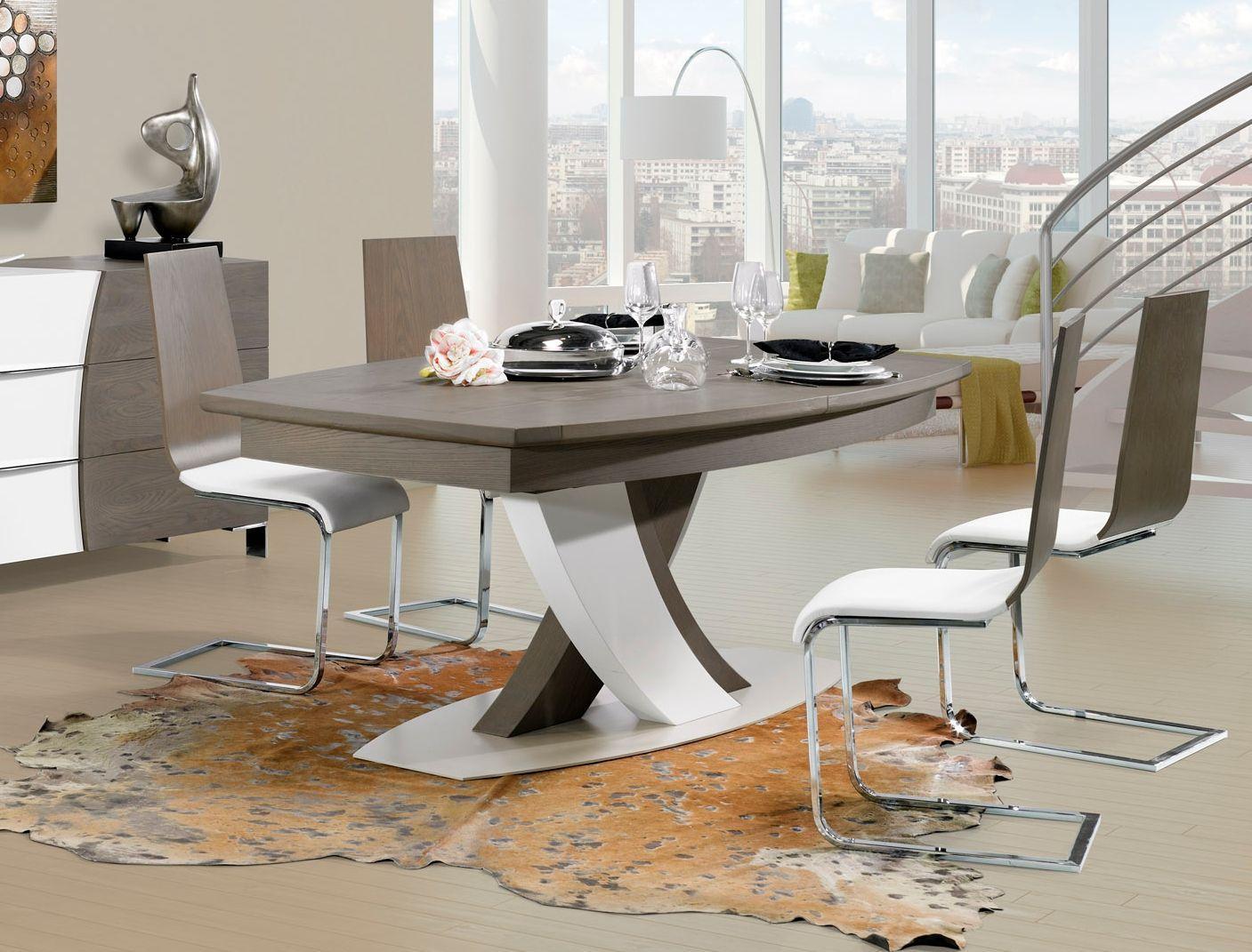 table contemporaine pied central | ambiances | pinterest