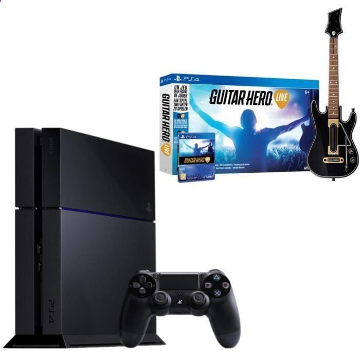 Pack PS4 500 Go Noire Jeu PS4 Guitar Hero Live pas cher - Les Bons - marketing action plan template