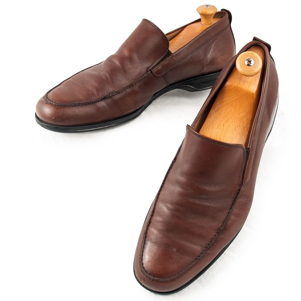 cee7c5f5628 Coach Corbin Loafers 11D Mens Drivers Slip Ons Brown Leather Shoes Italy  Made  Coach  LoafersSlipOns  MensShoes  SomeLikeItUsed