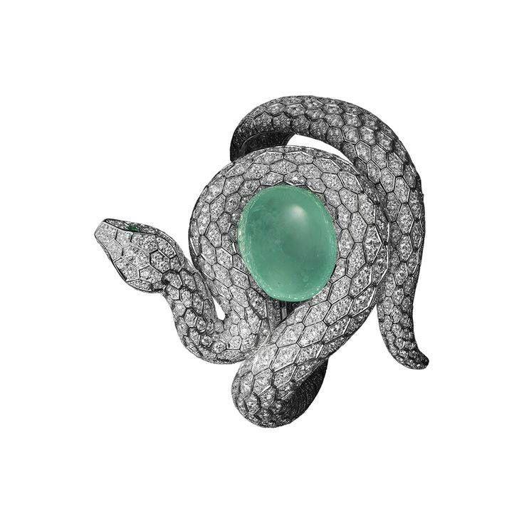 65e32959639fe Cartier Snake Bracelet - platinum, one 53.78-carat cabochon-cut ...