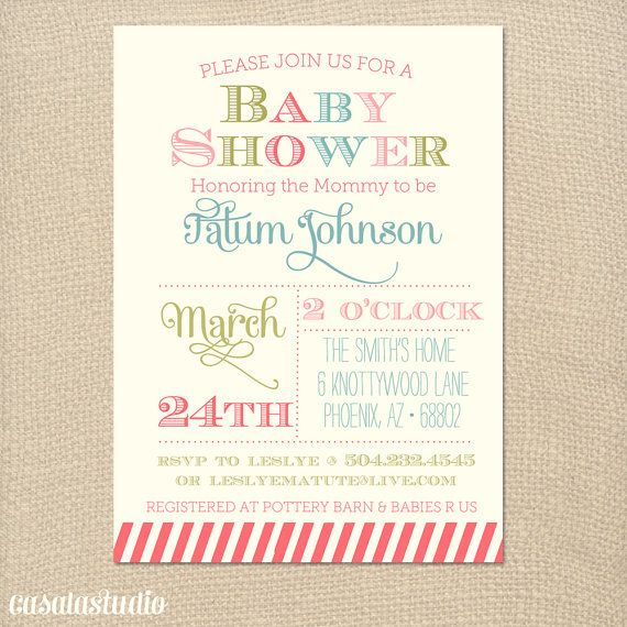 Spring Fling Bridal Shower Invitation Baby Shower by casalastudio - invitation templates for farewell party