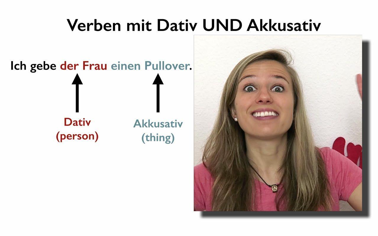 German Verbs With Dative And Accusative Verben Mit Dativ Und Akkusativ
