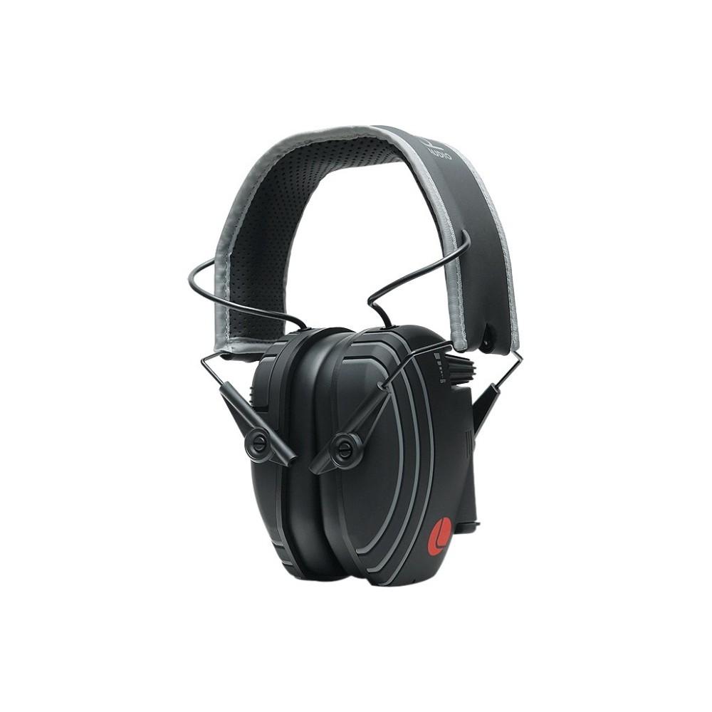 1ec834ba790 Lucid Hearing Headphones - Stereo - Black, Gray Accent - Mini-phone - Wired  - Over-the-head - Binaural - Circumaural