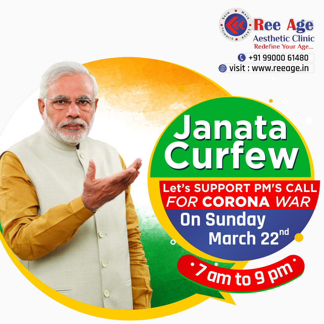 Janata Curfew for CORONA War on Sunday(22nd March) from 7