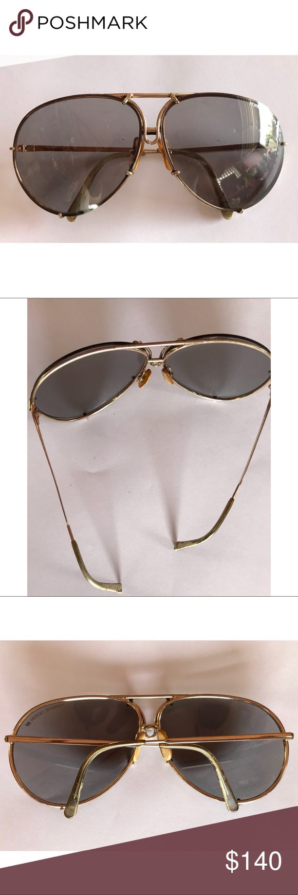 7c830ce52d433 Case not included. Large. Grey lens. Gold frame. Porsche Design Accessories  Sunglasses. Vintage Porsche Carrera Sunglasses 5621 40 ...