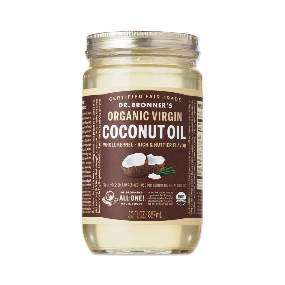 Organic Fair Trade Virgin Coconut Oil - Thrive Market