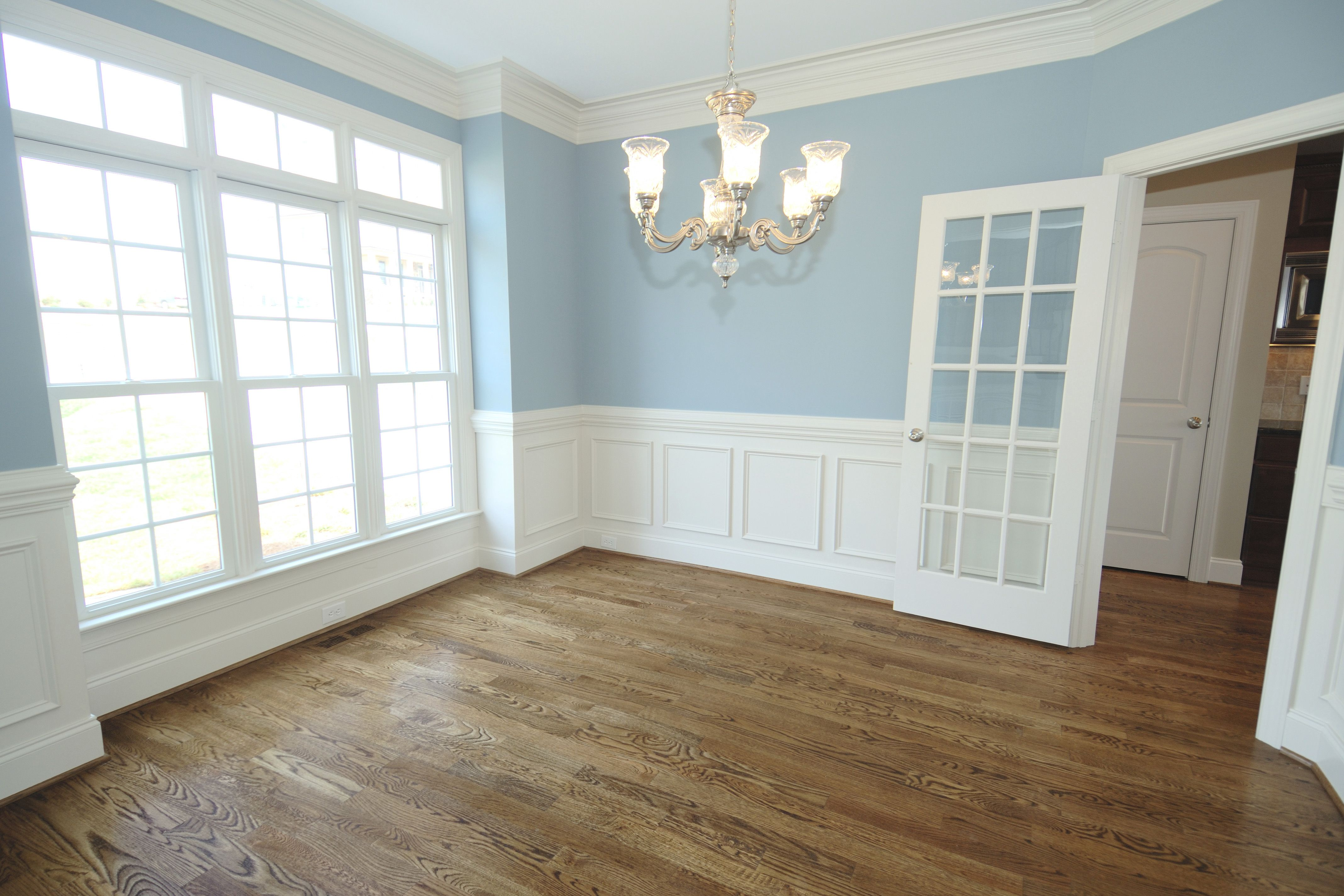 Image Result For Light Blue Walls Wood Floors White Wainscoting Wainscoting Styles Installing Wainscoting