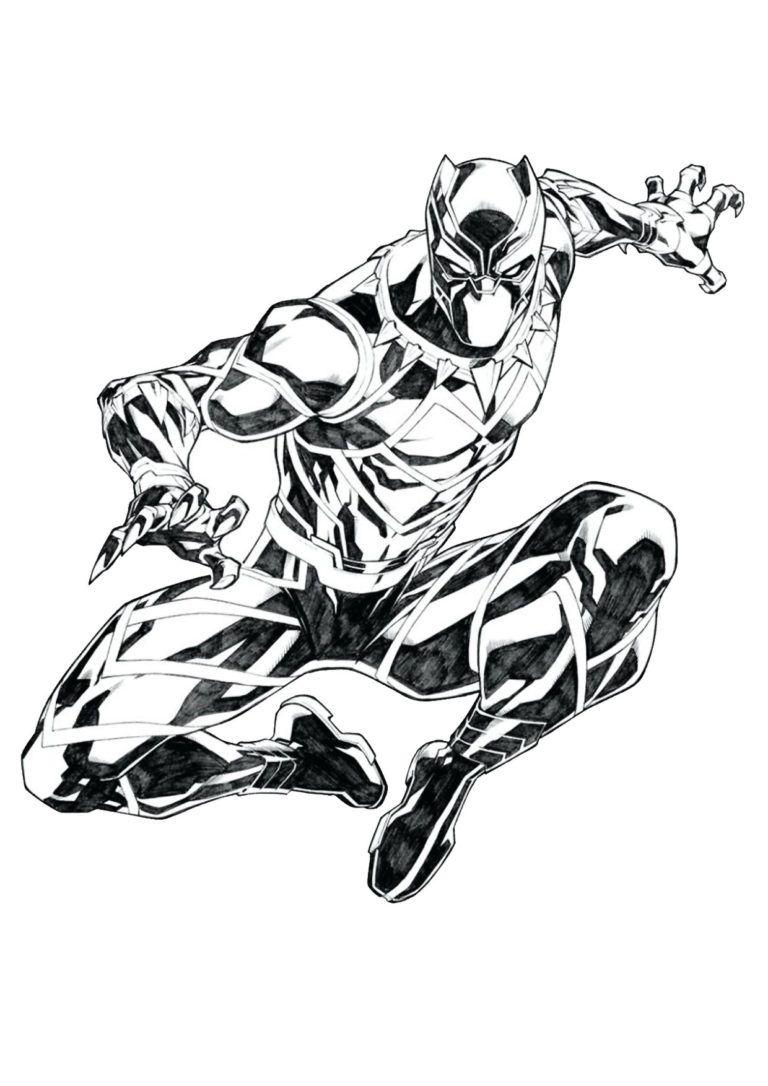 12 Disegni Di Black Panther Da Colorare Marvel