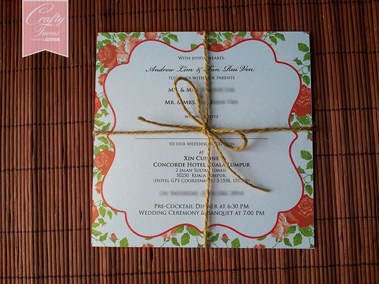 Rose Theme Chinese Wedding Cards Printing in Malaysia Handmade - best of wedding invitation card kota kinabalu