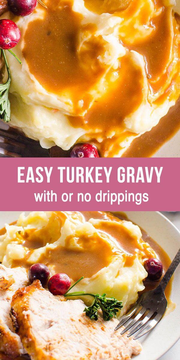 Easy Turkey Gravy 5 Ways #turkeygravyfromdrippingseasy