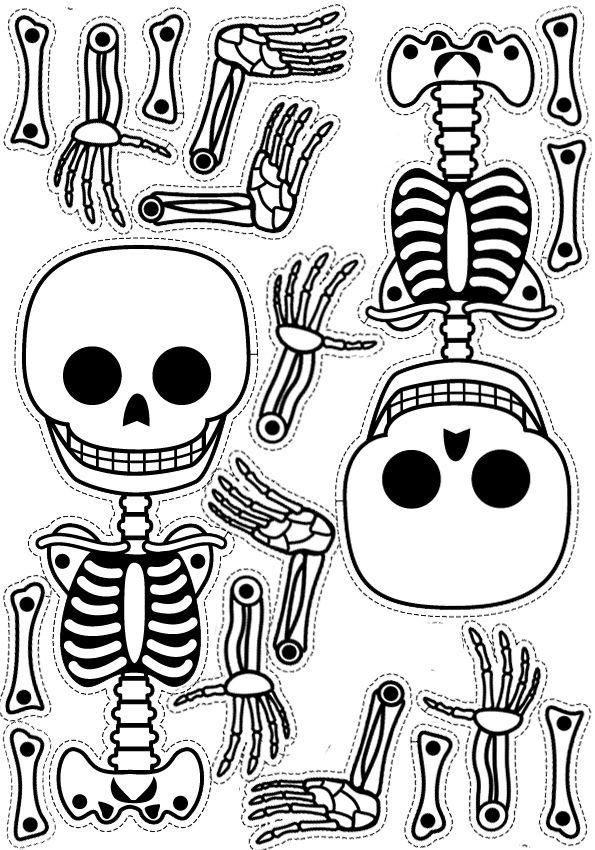 caveirinha para imprimir! linda!!! caveira esqueleto molde | ösz ...