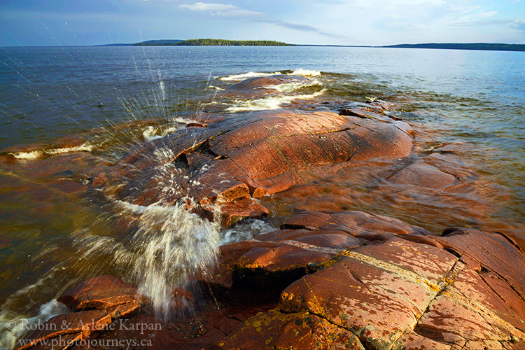 Lake Superior shoreline, Rainbow Falls Provincial Park, Ontario #rainbowfalls