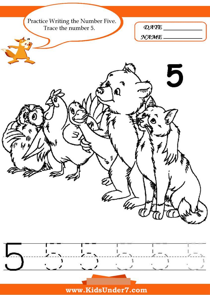 Kids Under 7: Writing Numbers Worksheets | Educación | Pinterest