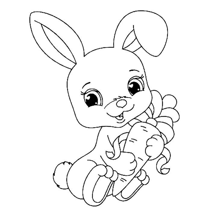 Baby Rabbit Coloring Pages In 2021 Bunny Coloring Pages Elephant Coloring Page Animal Coloring Pages