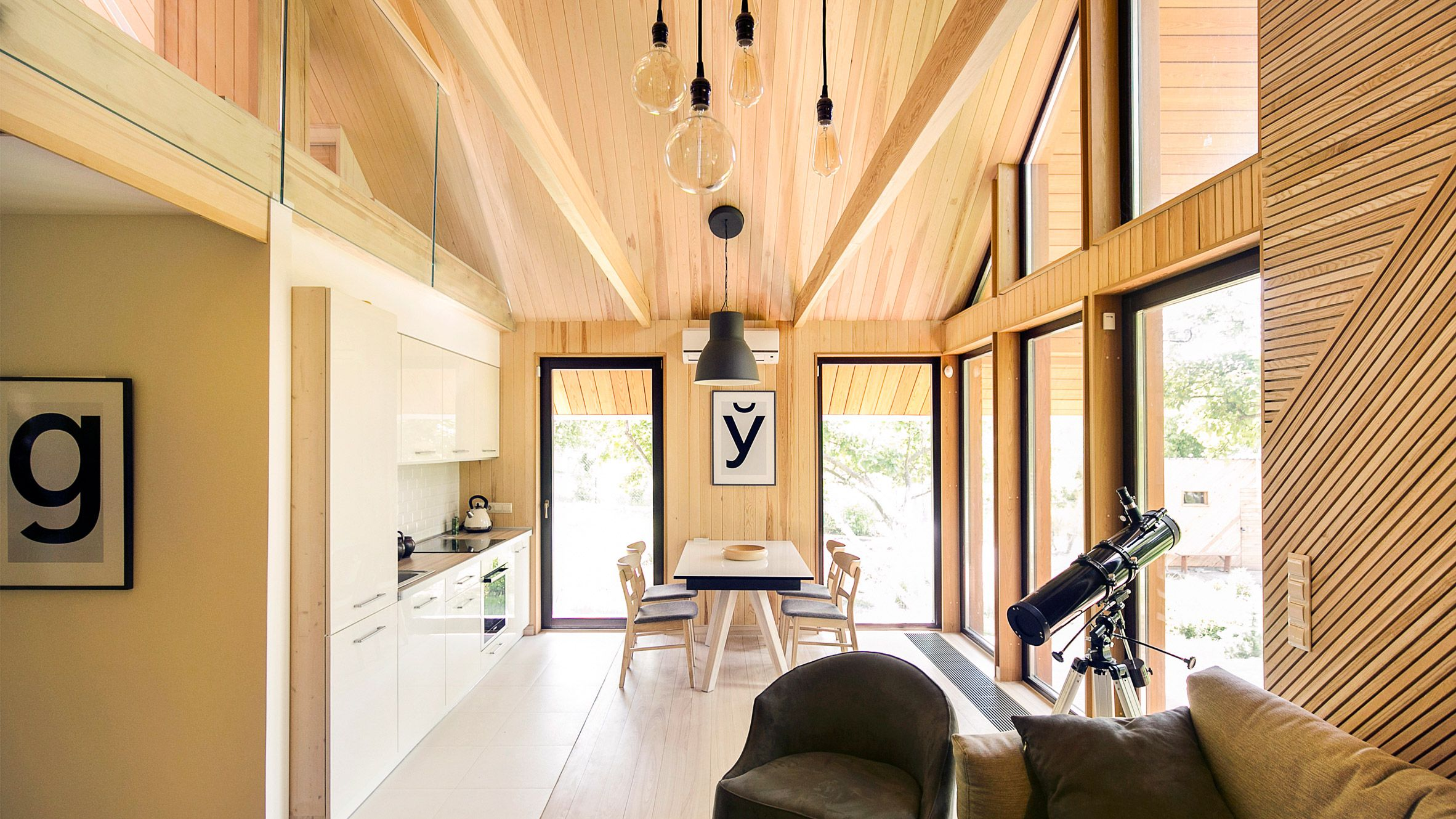 The Cosy Feel Of Classic Scandinavian Cottages Is Referenced In The Interior Of This Scandinavian Style Home Modern Scandinavian Interior Modular Home Designs