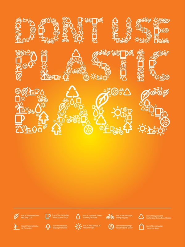 Don't use plastic bags campaign!! It's Simple to use our own bags