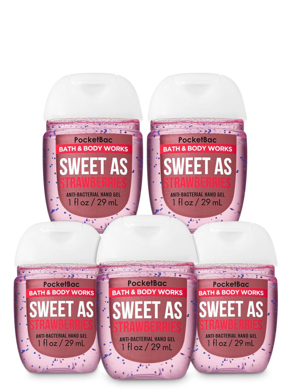Bath Body Works Sweet As Strawberries Pocketbac Hand Sanitizers