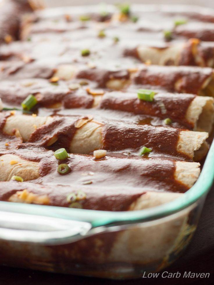Low Carb Chicken Enchiladas Use One Carb Gluten Free Tortillas