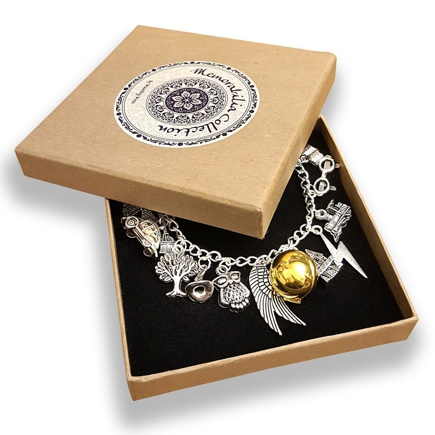 Wizarding Wares Hogwarts Charm Bracelet with Gift Box ,  - 3