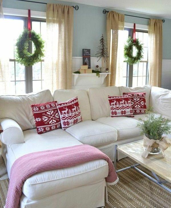 35 bastelideen f r fenster weihnachtsdeko deko - Weihnachten wohnzimmer ...