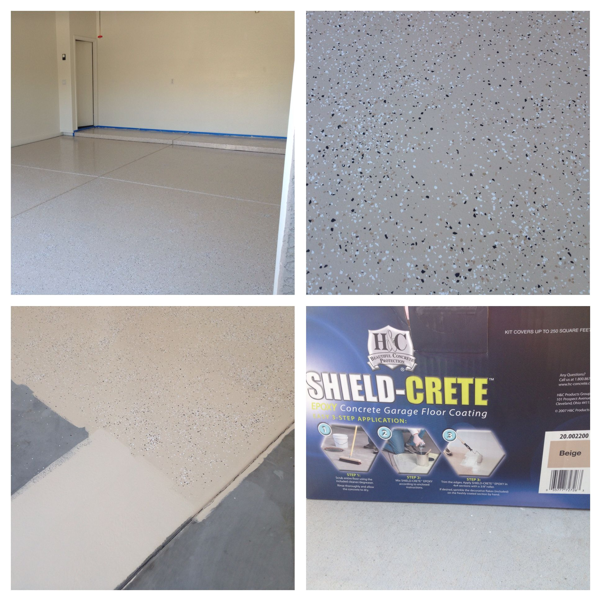 Epoxy Garage Floor Kit Purchased At Sherwin Williams 30 Off It Took Two Boxes To Do A Two Car Gara Garage Floor Epoxy Epoxy Flooring Cost Flooring Cost