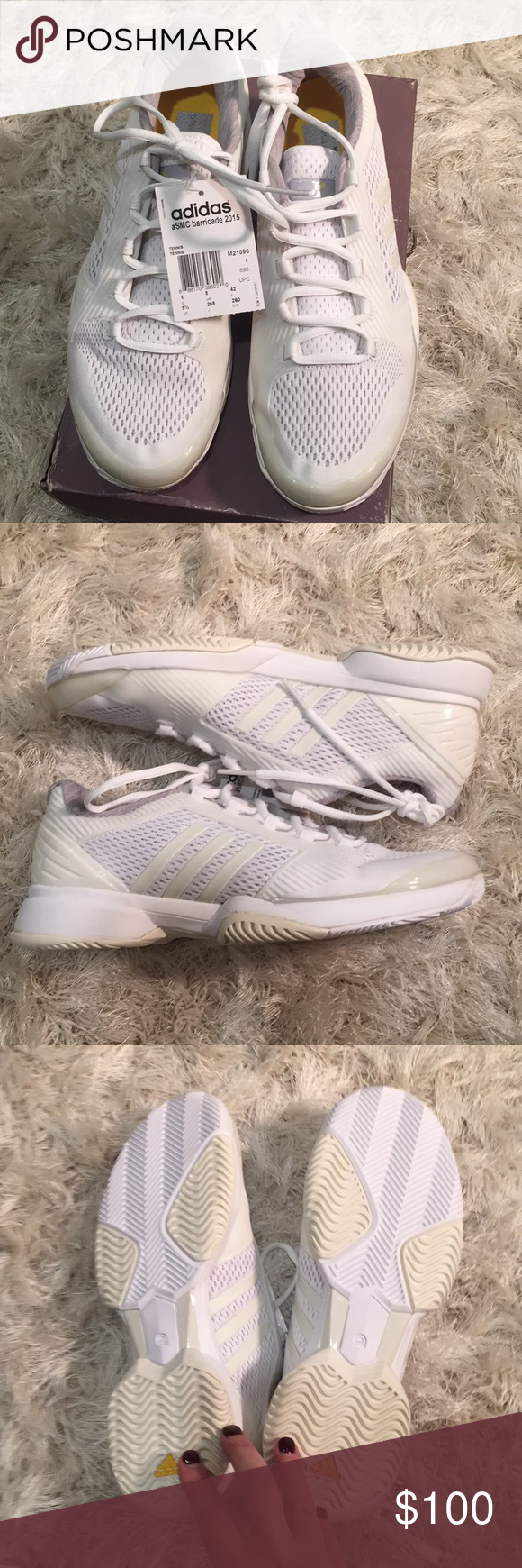 2df666873443e NWT Adidas by Stella McCartney Barricade 2015 100% synthetic, fabric Rubber  sole TORSION SYSTEM for midfoot integrity TPU heel stabilizer Ultra  responsive ...