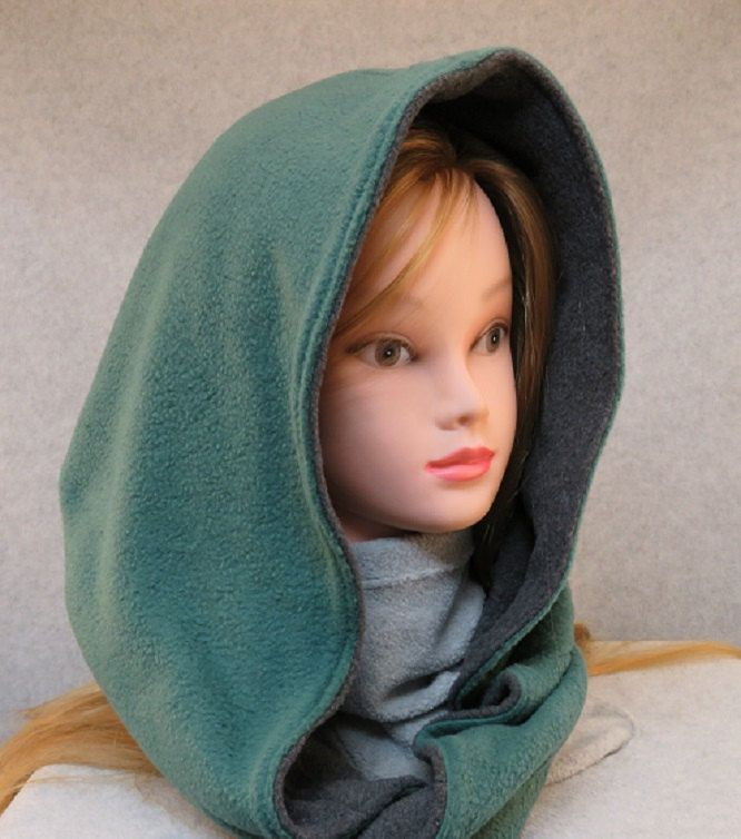 Fleece hooded scarf/ fleece scoodie/ fleece snood/ hooded scoodie ...