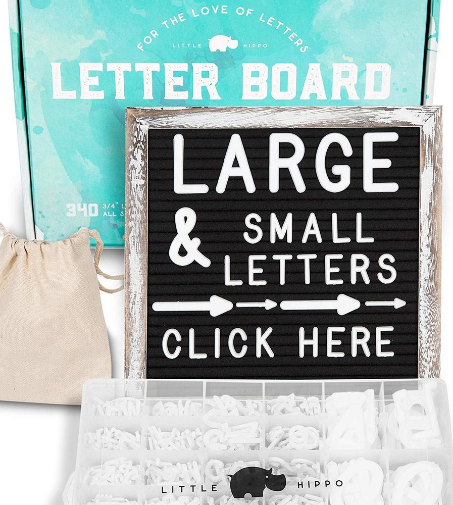 Felt Letter Board 10x10   690 PRE-Cut Letters Stand Sorting Tray   Black with #fashion #home #garden #homedcor #messageboardsholders (ebay link)