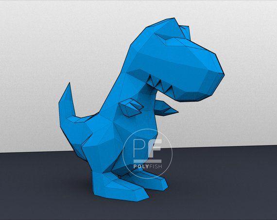 Dinosaur (T-Rex, Paper Dino, Origami Predator, Papercraft